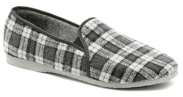 Pegres 1014 nadměrná modrá domácí obuv šíře H EUR 48
