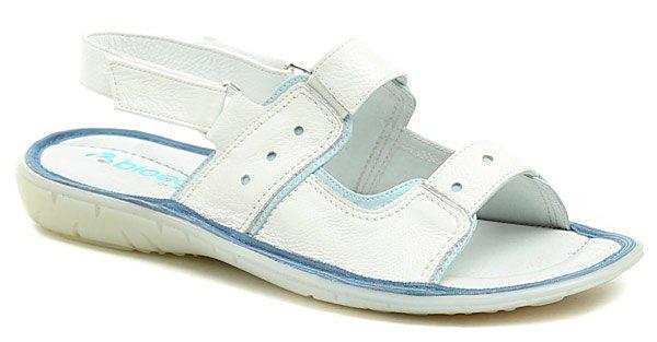 Bioeco AK037 bílé dámské sandály EUR 36