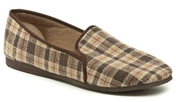 Pegres 1014 nadměrná hnědá domácí obuv šíře H EUR 48