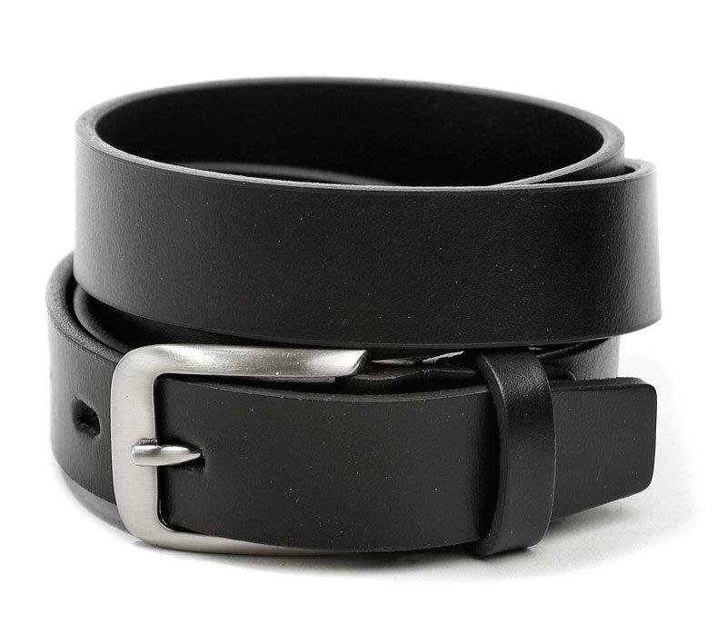 Pánský černý kožený pásek šíře 27 mm EUR 105