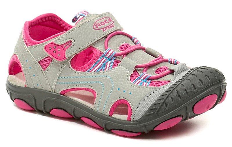 Rock Spring Grenada šedo růžové dětské sandály EUR 35