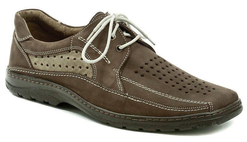 Koma 519 hnědá nubuk pánská letní nadměrná obuv EUR 48