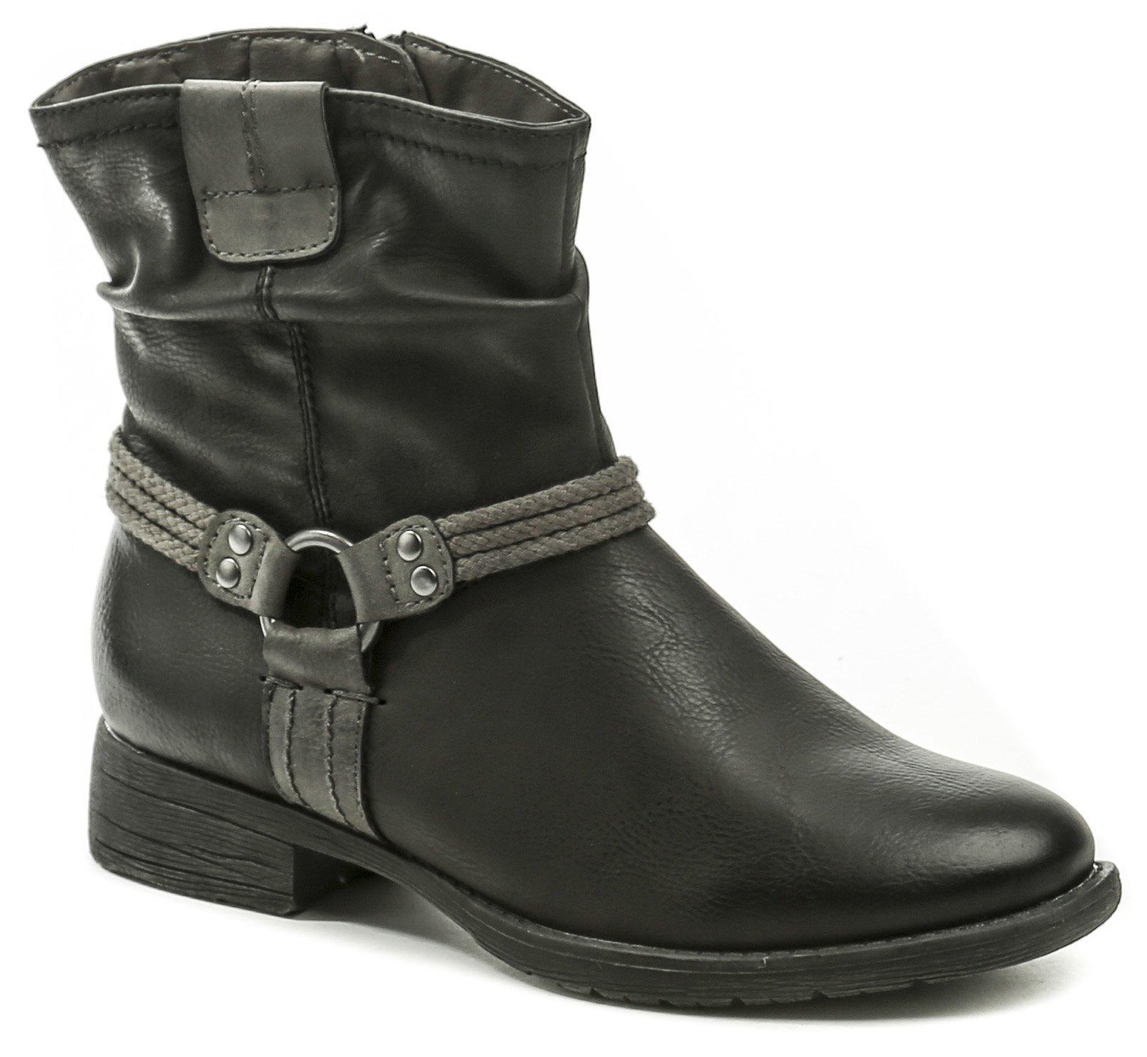 991c378dc14e Jana 8-25461-21 čierne dámske zimné topánky šírka H