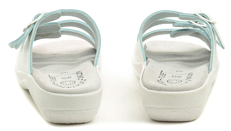 ff8e914d44025 Golden Fit 10003 bílé dámské zdravotní pantofle | ARNO-obuv.sk
