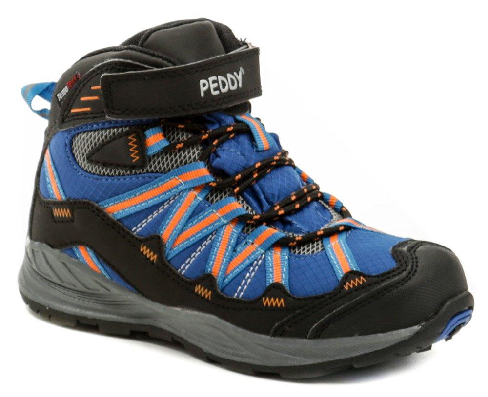 8ac3a1b7c377 Peddy PV-509-27-03 modro oranžové členkové zimné topánky