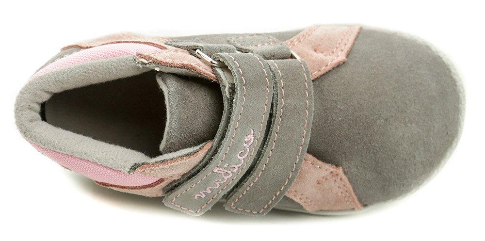 b9a62d9331 Medico EX4830A šedo ružové detské topánky