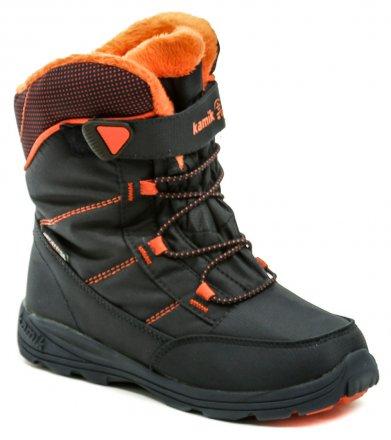 24e7e8fd7dc0 KAMIK Stance navy oranžová detská zimná členková obuv
