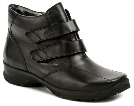4364c1735094 Axel AX4002 čierne dámske nadmerné zimné topánky šírka H