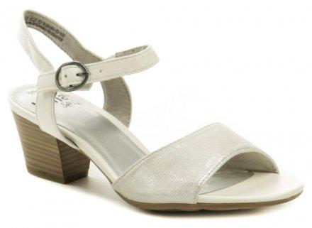 75ed0e685703b Jana 8-28365-22 biele dámske sandále šírka H