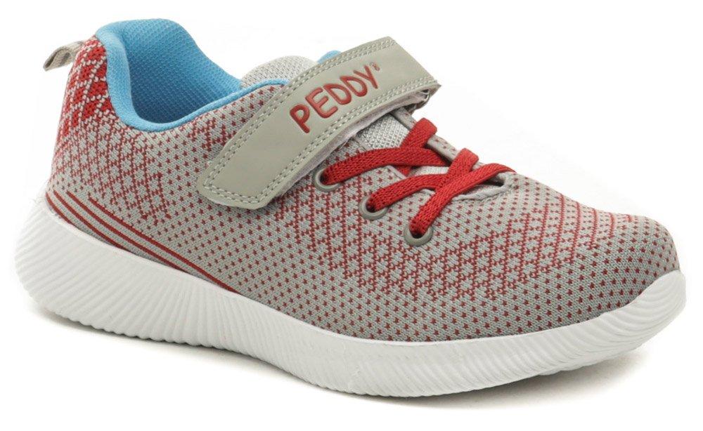 Peddy PO-507-22-05 šedo červené detské tenisky EUR 32