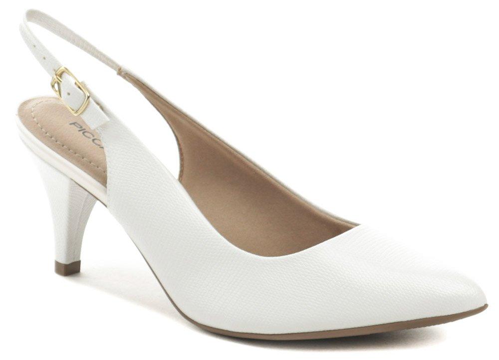 cf2d65e83 Piccadilly 745045 biele croco dámske lodičky s voľnou pätou | ARNO-obuv.sk