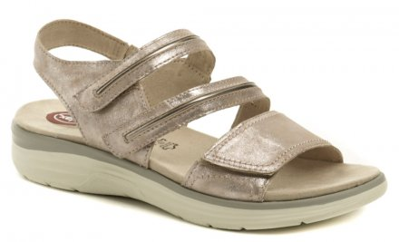 e7bb8fe604327 Jana 8-28402-22 rose metalic nadmerné dámske sandále šírka H