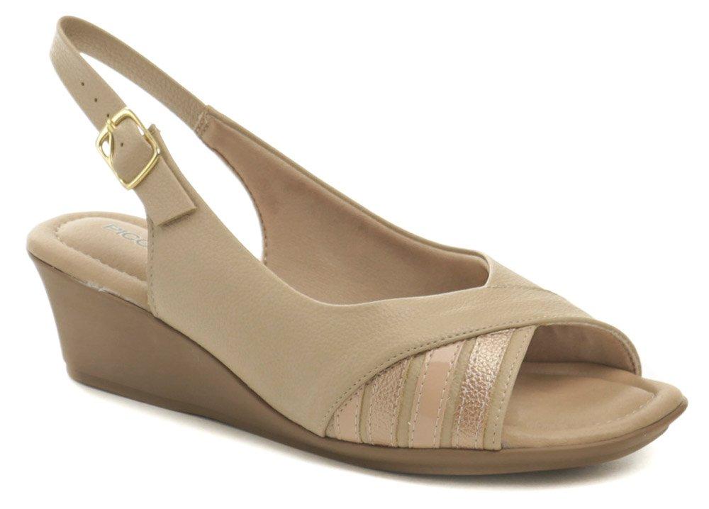 Piccadilly 153029 béžové dámske sandále na kline EUR 37