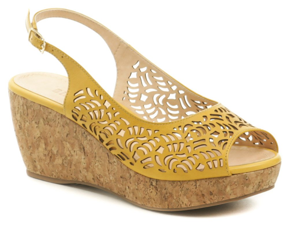 Patrizia Azzi 9700-241 okrová dámska letná obuv na kline EUR 41