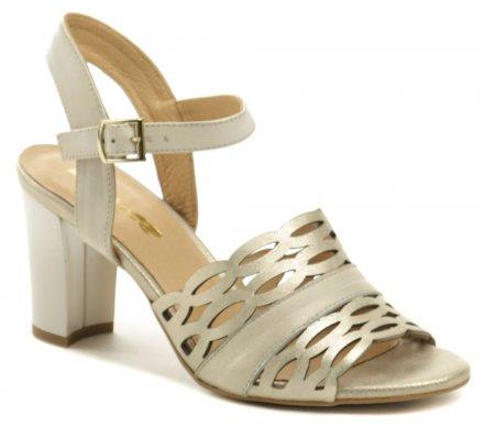 59d7eb3991ae8 Mintaka 911073-24 bronzová dámska letná obuv na podpätku