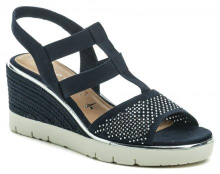 35f6263476 Tamaris 1-28370-22 navy dámske sandále na kline