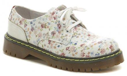 4b70f8bce Koma 14D01K8 biela kvetová dámska obuv