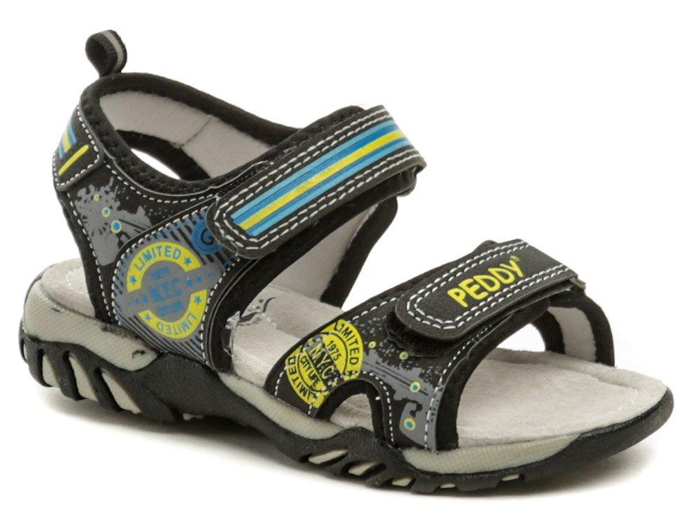 Peddy PO-512-36-02 čierne sandálky EUR 33