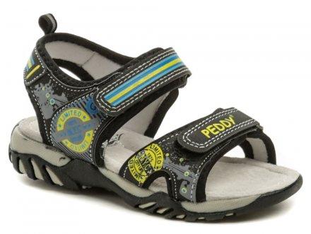 4adf711bb457 Peddy PO-512-36-02 čierne sandálky