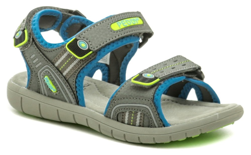 Peddy P2-512-32-03 sivo modré sandálky EUR 32