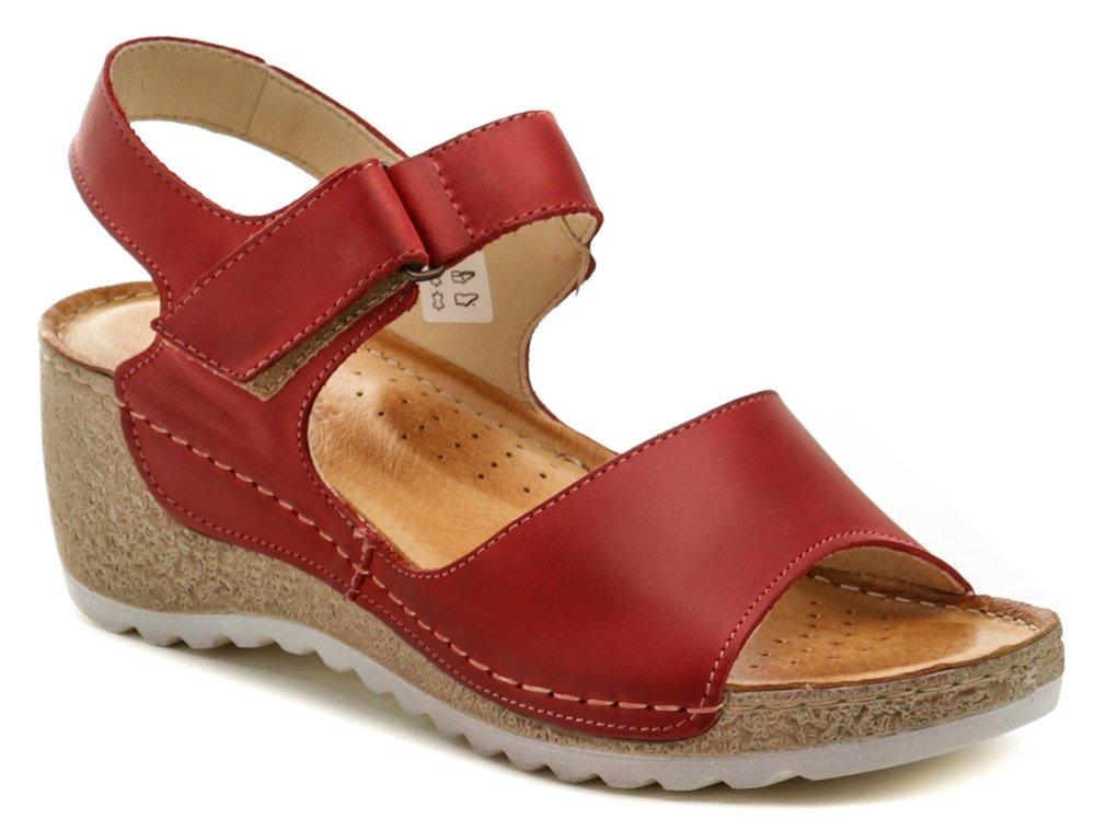 Wasak W474 červené dámske sandále na kline EUR 40
