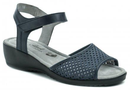 dc8ea6ff43 Axel AXL2365 modré dámske sandále na kline
