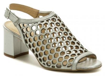 ad6f5dc324d22 Mintaka 911025N-24 strieborná dámska letná obuv na podpätku