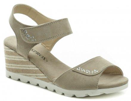88c8c47b71fa2 Sprox 469003 béžové dámske sandále na kline