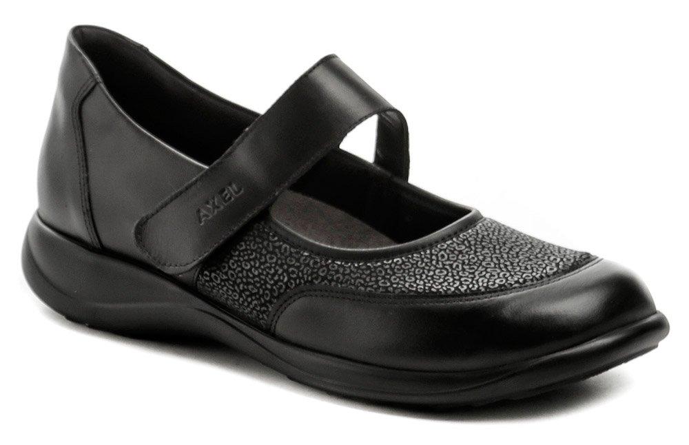 Axel AXCW062 čierne dámske poltopánky topánky šírka H EUR 41