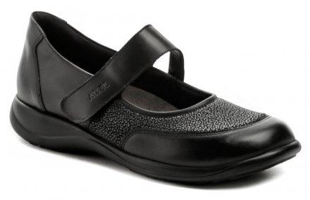 e50fe8fe1c45 Axel AXCW062 čierne dámske poltopánky topánky šírka H