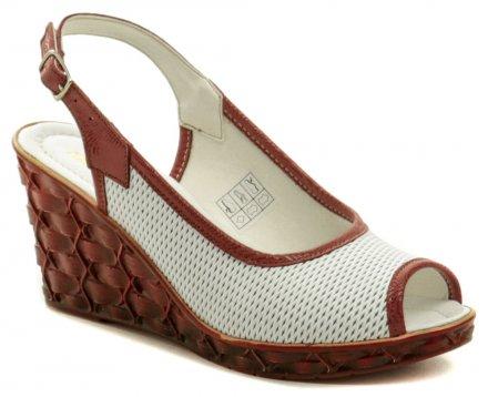 39d4869c94fdf Mintaka 911247 bielo červená dámska letná obuv na kline