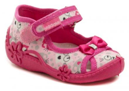279dc3a5f Vi-GGA-Mi ružové detské plátené sandálky ZULKA