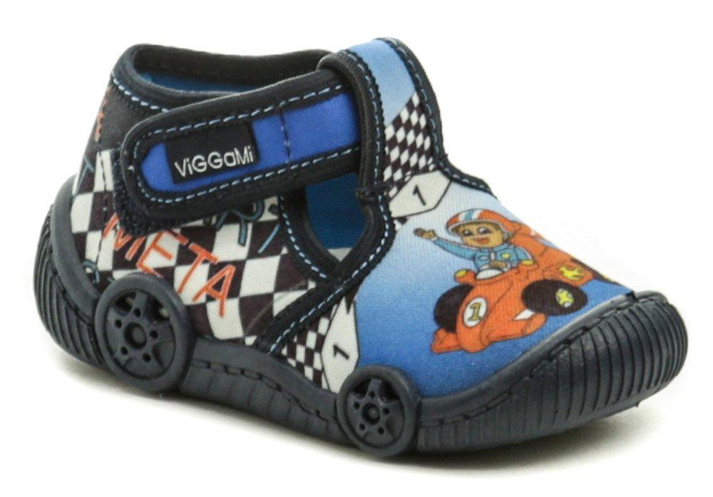 Vi-GGA-Mi modré detské plátené papučky FORMULE EUR 22
