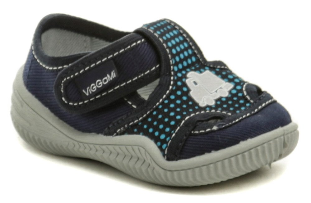 Vi-GGA-Mi modré detské plátené papučky ADAS EUR 24
