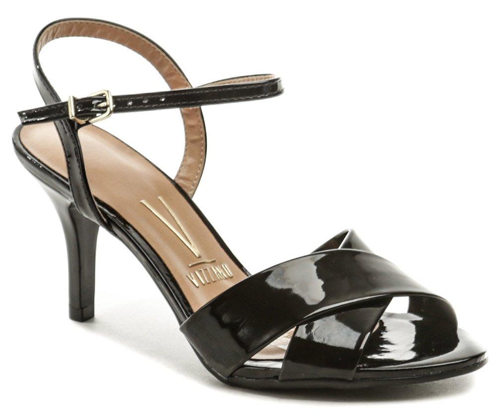 VIZZANO 6276-136 čierne dámske sandále na podpätku EUR 41