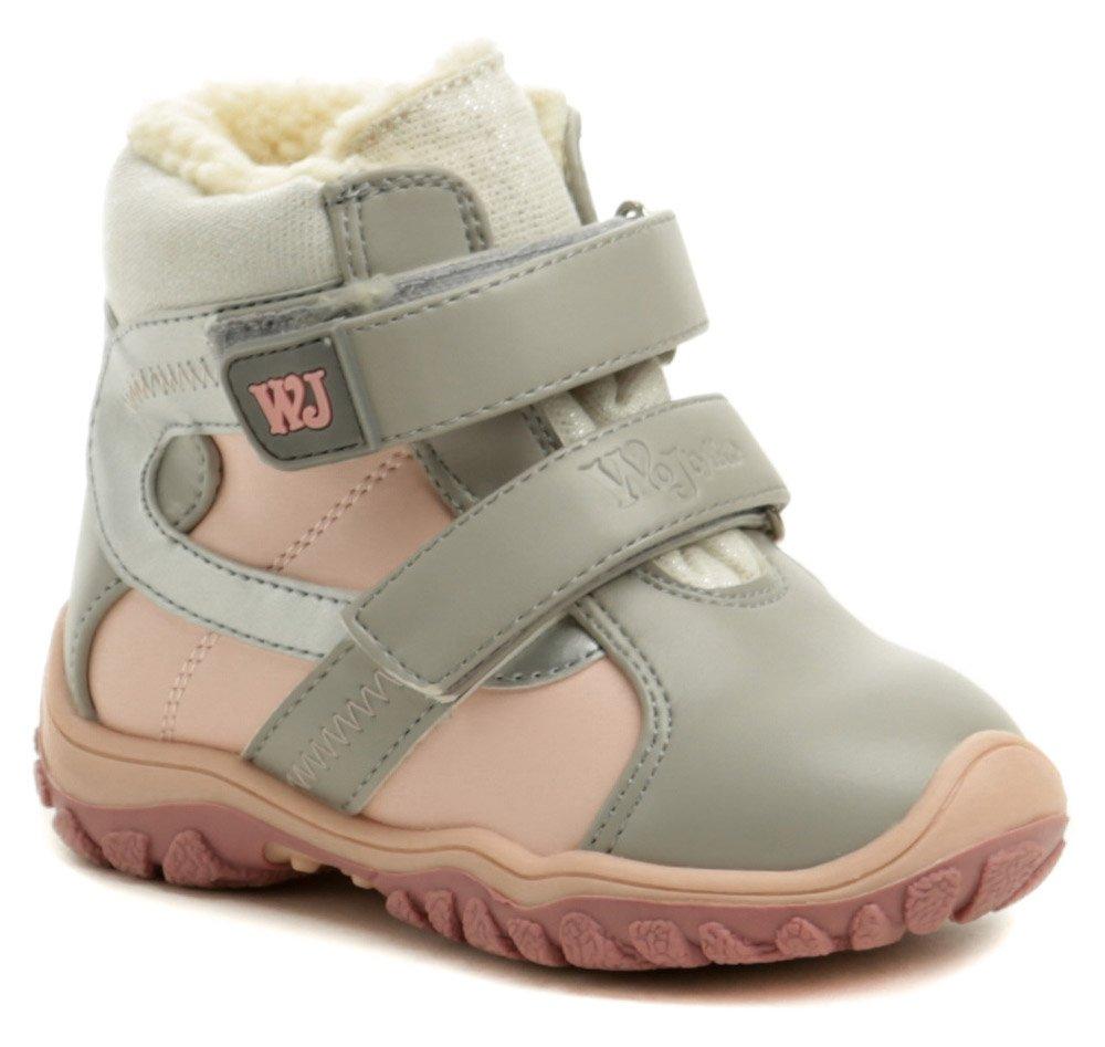 Wojtylko 1Z20048 šedo ružové detské zimné topánky EUR 21