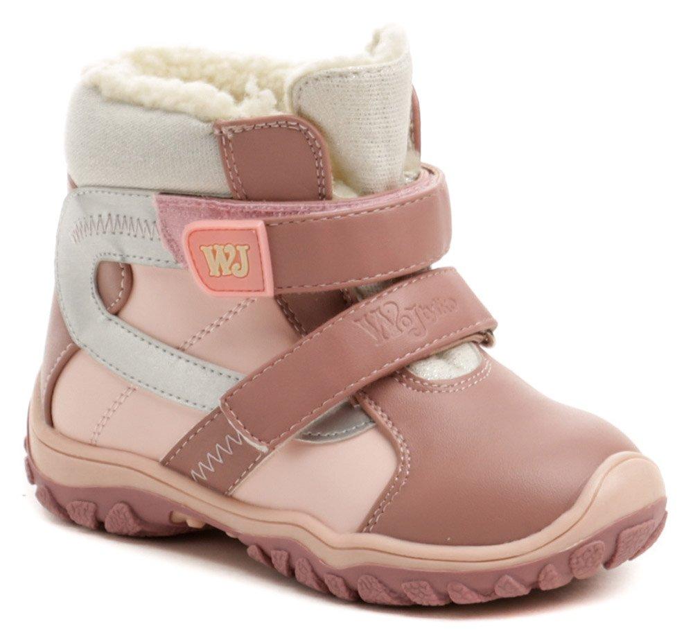 Wojtylko 1Z20048a ružové detské zimné topánky EUR 27