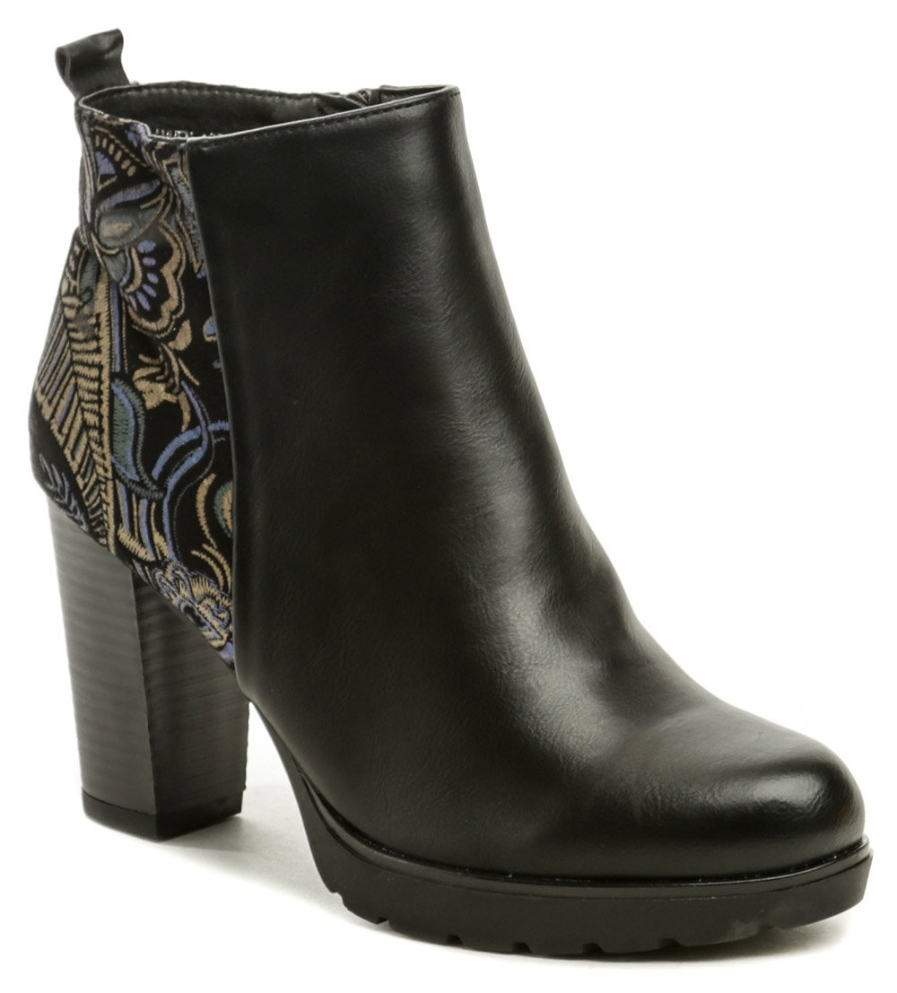 T.Sokolski čierna zimná obuv na podpätku HFN-1908 EUR 40