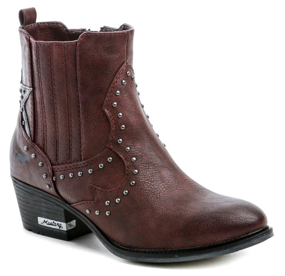 Mustang 1346-502-55 bordó dámske zimné topánky EUR 36