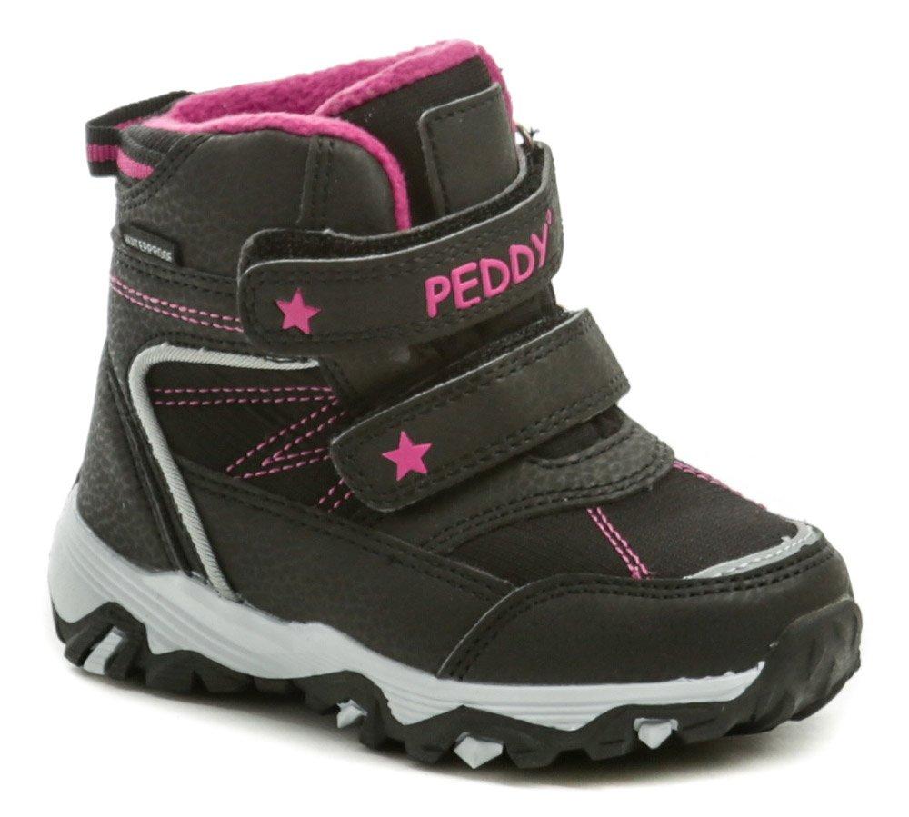 Peddy P3-631-35-10 čierno ružové detské zimné topánky EUR 30