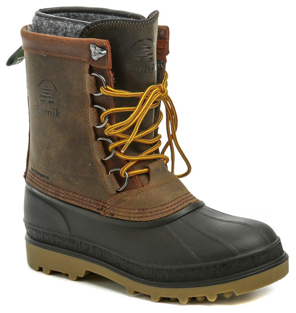 Kamik William hnedé pánske zimné topánky EUR 47