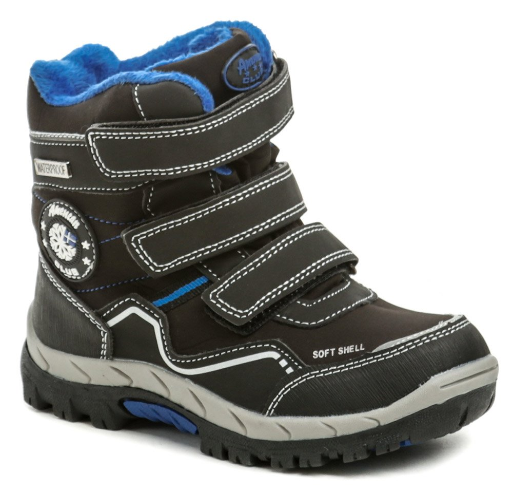 American Club HL19-19 čierno modré detské zimné topánky EUR 30