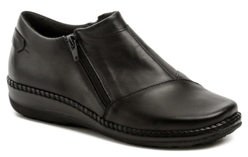 Axel AXBW068 čierne dámske poltopánky topánky šírka H EUR 38