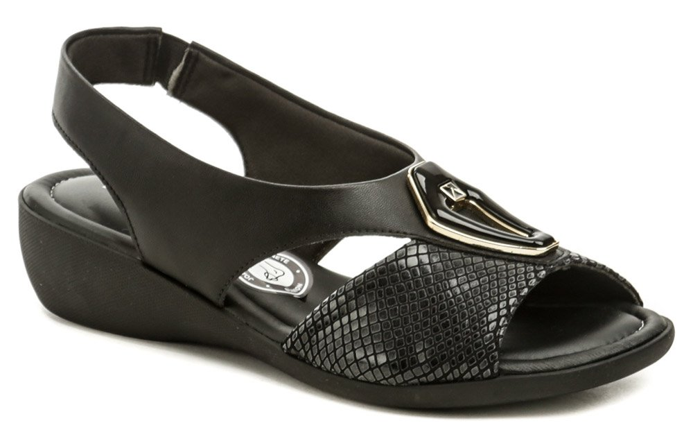 Piccadilly 416077-1 čierne dámske zdravotné sandálky EUR 37