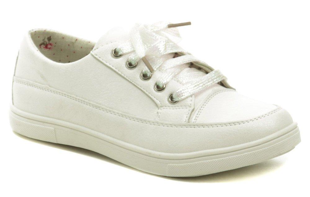 Wojtylko 2220 biele dievčenské poltopánky EUR 33