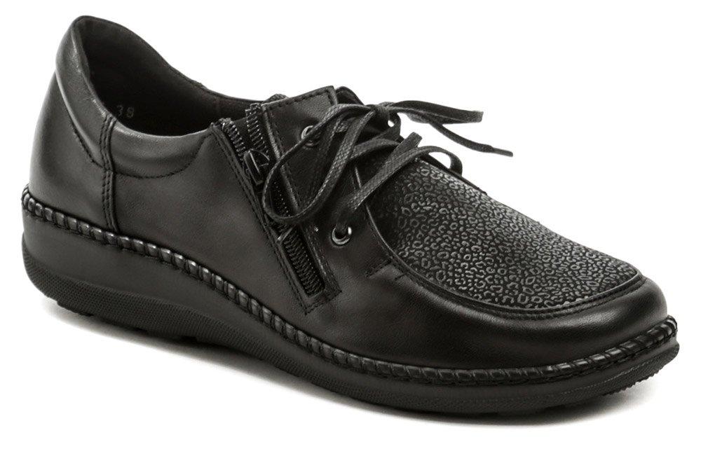 Axel AXCW129 čierne dámske zdravotné poltopánky topánky šírka H EUR 40