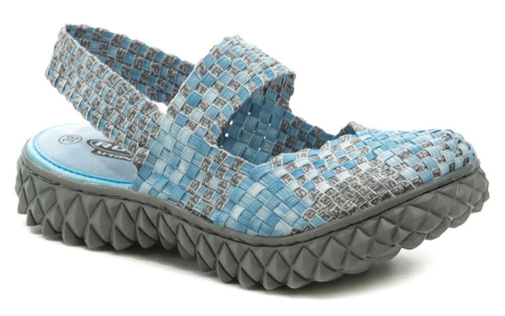 Rock Spring OVER SANDAL modro šedá dámska obuv z gumičiek EUR 39