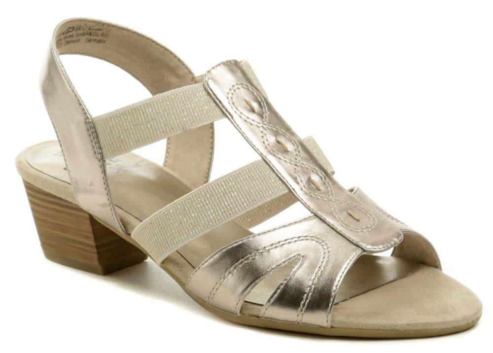 Jana 8-28267-24 zlato ružové dámske sandále šírka H EUR 37