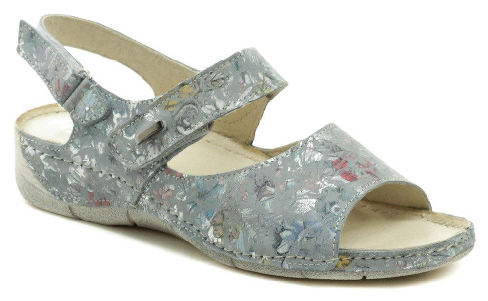 Amulet AM529 bledo modré dámske sandále na kline EUR 39