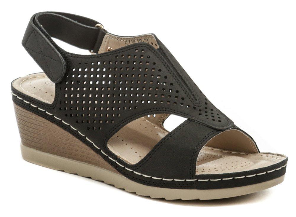 T.Sokolski čierne dámske sandále na kline Six L20-21 EUR 37